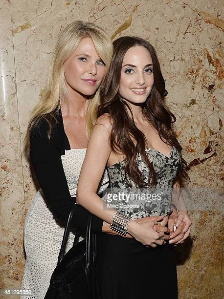 Model/actress Christie Brinkley and musician/daughter Alexa Ray Joel pose for a picture after Alexa performed during her stay at The Carlyle Hotel on...