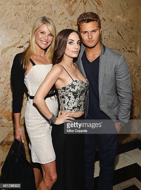 Model/actress Christie Brinkley musician Alexa Ray Joel and Jack BrinkleyCook pose for a picture after Alexa performed during her stay at The Carlyle...