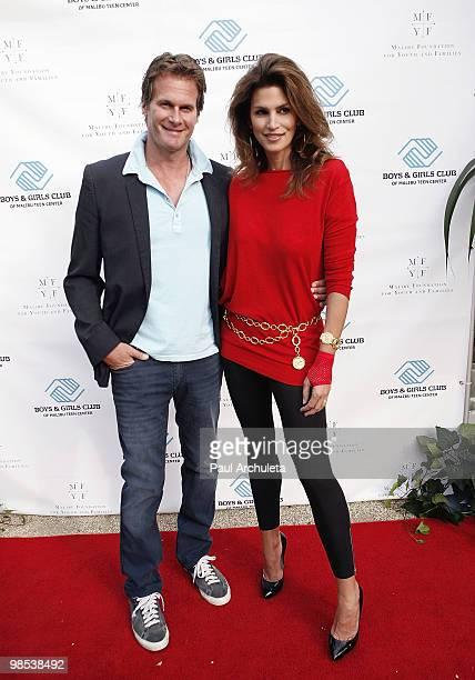Model/Actress Cindy Crawford and her husband Rande Gerber arrive at the Boys Girls Club Malibu teen center celebrity benefit at La Villa Contenta on...