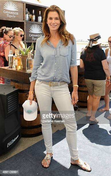 Model/actress Cindy Crawford attends The Horsemen Flight Team Event Hosted By Dan Friedkin And Lauren Sanchez Whitesell sponsored by Casamigos...