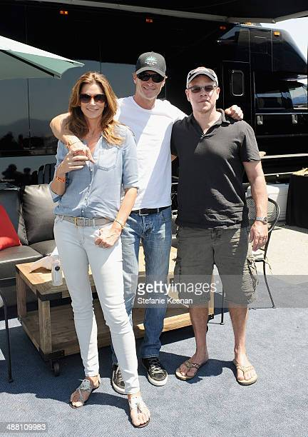 Model/actress Cindy Crawford Rande Gerber and actor Matt Damon attend The Horsemen Flight Team Event Hosted By Dan Friedkin And Lauren Sanchez...