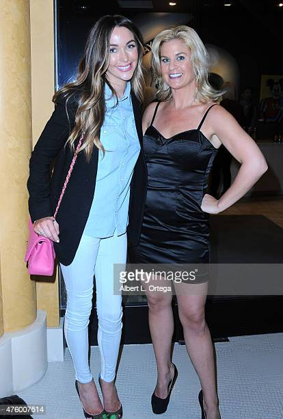 Model/actress Courtney Sixx and personality Liz Crokin at the Art Exhibition Red Carpet Event Unveiling Of Celeb Selfies Portrait Series By Pop...