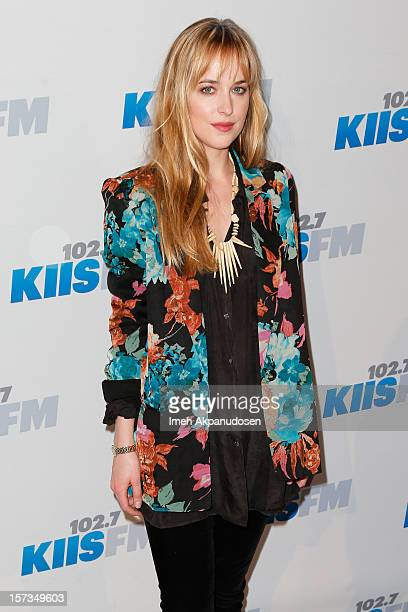 Model/actress Dakota Johnson attends KIIS FM's 2012 Jingle Ball at Nokia Theatre LA Live on December 1 2012 in Los Angeles California