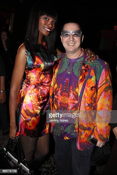 Model/actress Dawn Leak and Noah G Pop attend the 2nd Annual Pay It Fashion Forward To Benefit Fashion Delivers at M2 Ultra Lounge on June 18 2009 in...