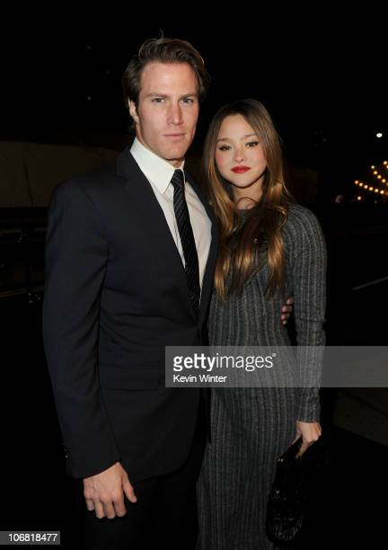 Model/actress Devon Aoki and James Bailey arrive at The Artist's Museum Happening MOCA Los Angeles Gala held at MOCA Grand Avenue on November 13 2010...