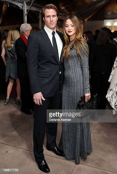 Model/actress Devon Aoki and James Bailey attend The Artist's Museum Happening MOCA Los Angeles Gala sponsored by Chanel Fine Jewelry cocktail...