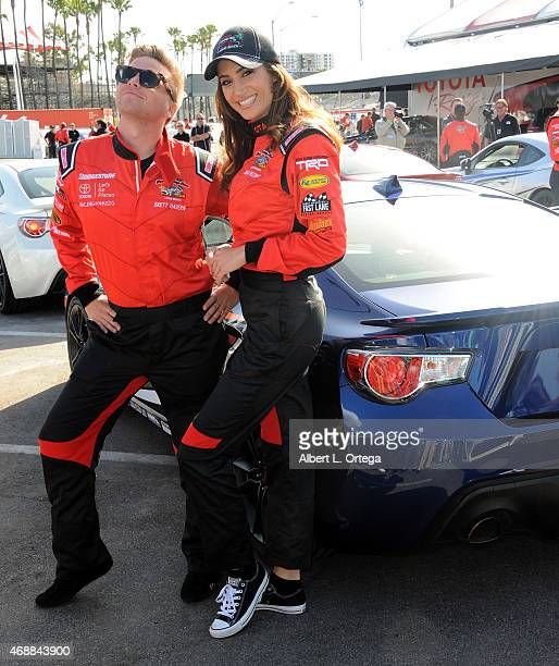 Model/actress Donna Feldman participates in press day for Pro/Celebrity Race at Toyota Grand Prix of Long Beach on April 7 2015 in Long Beach...