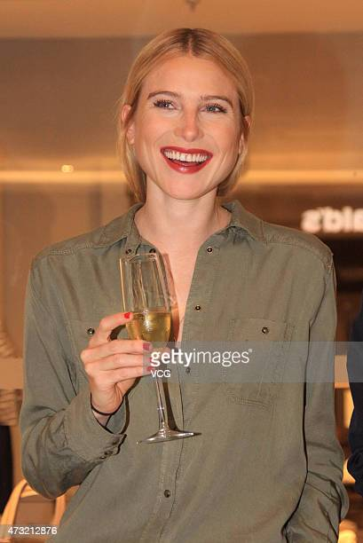 Model/actress Dree Hemingway, Ernest Hemingway's granddaughter, attends commercial activity of Marc O'Polo on May 13, 2015 in Beijing, China.
