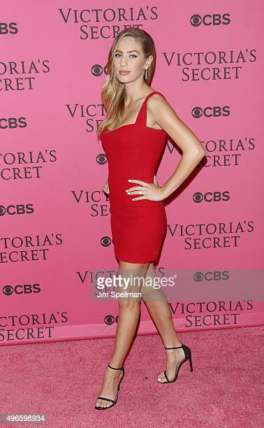 Model/actress Dylan Frances Penn attends the 2015 Victoria's Secret Fashion Show pink carpet arrivals at Lexington Armory on November 10 2015 in New...