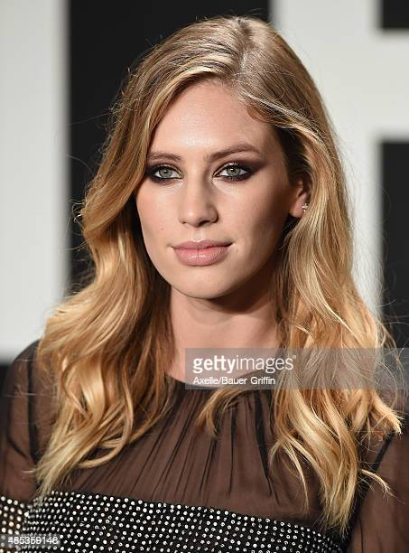 5cbe45c2592 Model/actress Dylan Penn arrives at the Tom Ford Autumn/Winter 2015  Womenswear Collection