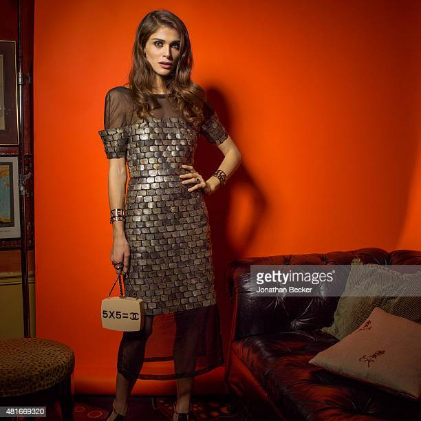 Model/actress Elisa Sednaoui is photographed at the Charles Finch and Chanel's PreBAFTA on February 7 2015 in London England