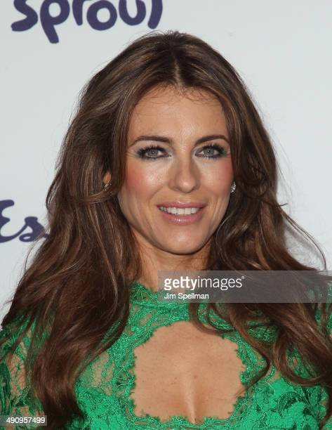 Model/actress Elizabeth Hurley attends the 2014 NBCUniversal Cable Entertainment Upfronts at The Jacob K Javits Convention Center on May 15 2014 in...