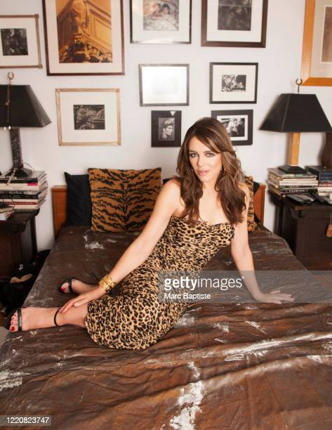 Model/actress Elizabeth Hurley is photographed for Genlux Magazine on December 16, 2019 in New York City. PUBLISHED IMAGE.