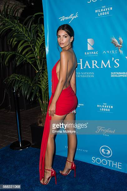 Model/Actress Emily Ratajkowski attends at RatPac Entertainment Hosts Special Event for UN SecretaryGeneral Ban Kimoon at Hillhaven Lodge on August...