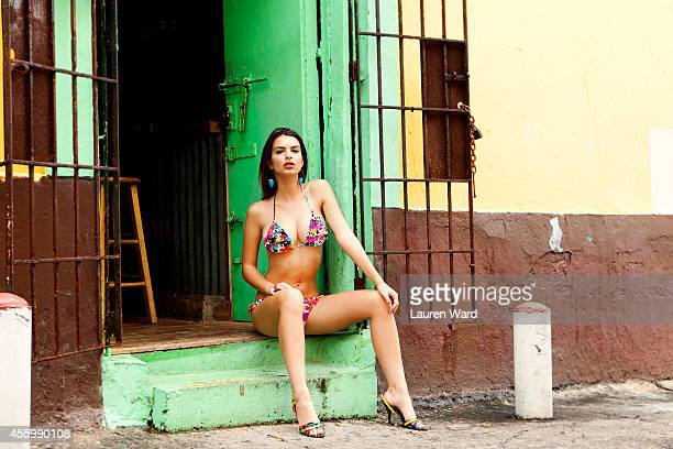 Model/actress Emily Ratajkowski is photographed for Surfing Magazine on November 19 2009 in Los Angeles California