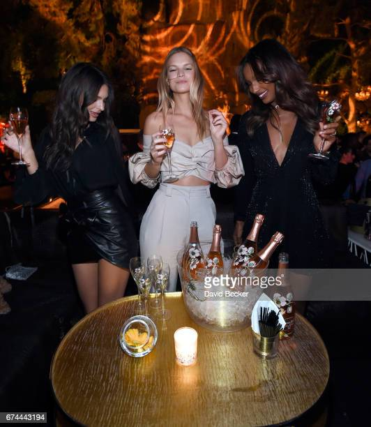 Model/actress Emily Ratajkowski models Nadine Leopold and Jasmine Tookes celebrate Intrigue Nightclub's OneYear Anniversary party hosted by...