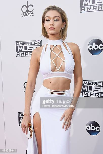 Model/actress Gigi Hadid attends the 2015 American Music Awards at Microsoft Theater on November 22 2015 in Los Angeles California