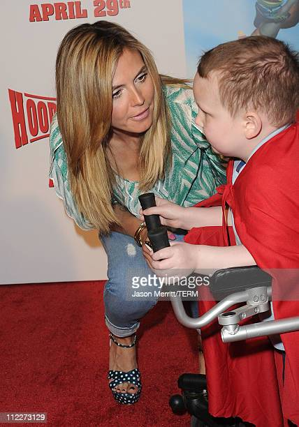 Model/actress Heidi Klum and patients from the Children's Hospital Los Angeles attend the HOODWINKED TOO HOOD vs EVIL Premiere Hosted by Heidi Klum...