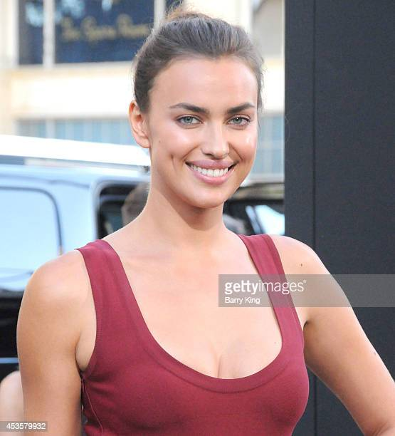 Model/actress Irina Shayk arrives at the Los Angeles Premiere 'Hercules' on July 23 2014 at TCL Chinese Theatre in Hollywood California