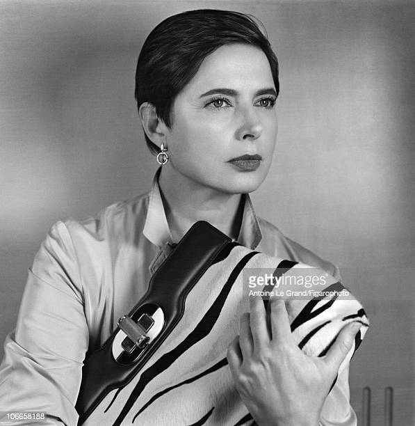 Model/Actress Isabella Rossellini photographed with a Bulgari bag called le Rossellini for Madame Figaro in 2010 Published image Figaro ID002 CREDIT...