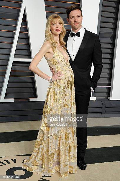 Model/actress Jaime King and director/writer Kyle Newman attend the 2015 Vanity Fair Oscar Party hosted by Graydon Carter at Wallis Annenberg Center...