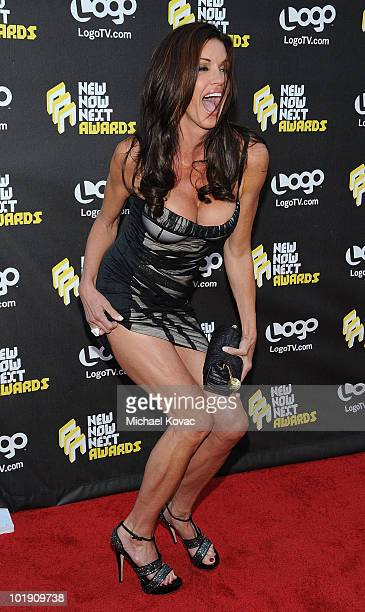"Model/Actress Janice Dickinson arrives at Logo's 3rd annual ""NewNowNext Awards 2010"" at The Edison on June 8, 2010 in Los Angeles, California."