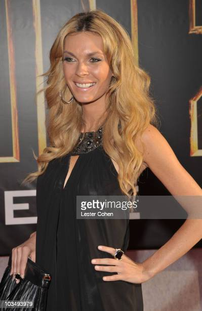 Model/actress Jasmine Dustin arrives at the Iron Man 2 world premiere held at El Capitan Theatre on April 26 2010 in Hollywood California
