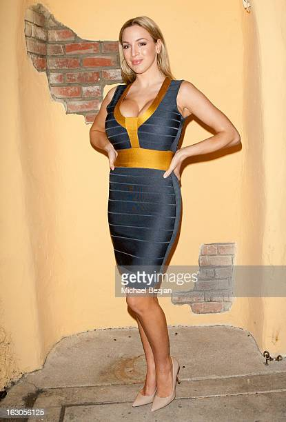 Model/Actress Jordan Carver attends Ben Becca Los Angeles Premiere at Raleigh Studios on March 3 2013 in Los Angeles California