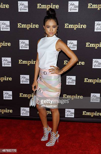 Model/actress Karrueche Tran attends the 'Empire' curated collection unveiling at Saks Fifth Avenue on September 12 2015 in New York City