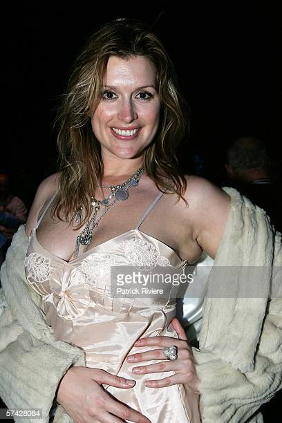 Model/actress Kate Fischer attends the Allanah Hill collection show in the Overseas Passenger Terminal during Mercedes Australian Fashion Week on...