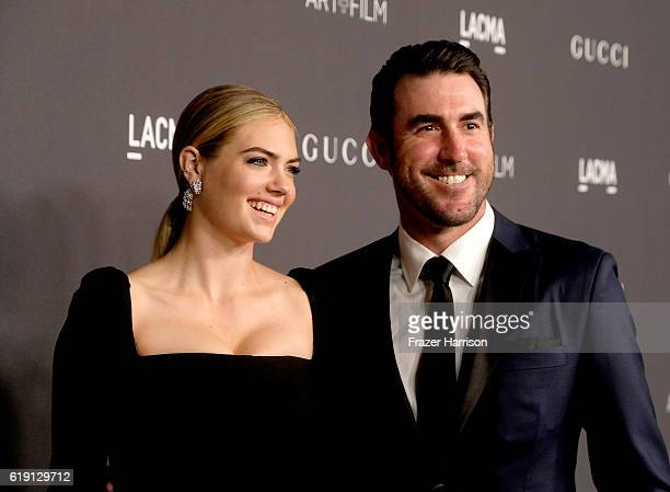 Model/actress Kate Upton and MLB player Justin Verlander attend the 2016 LACMA Art Film Gala honoring Robert Irwin and Kathryn Bigelow presented by...