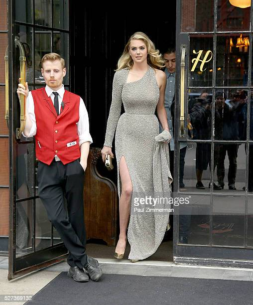 Model/actress Kate Upton is seen departing the Bowery Hotel on May 2 2016 in New York City