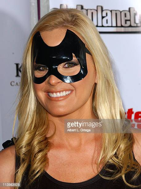 Model/actress Katie Lohmann as Batgirl arrives at the Aliance Group Entertainment's SE7EN Deadly Sins Hallowe'en Special broadcasted by MTV in...