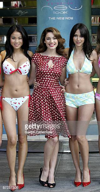 bb2780beaf Model Actress Kelly Brook launches the first beachwear range for highstreet  fashion chain New Look