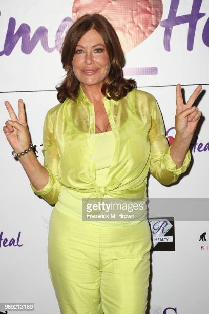 Modelactress Kelly LeBrock attends a press conference hosted by Van Nuysbased nonprofit Safe Passage announcing Time2Heal an expansion of its support...