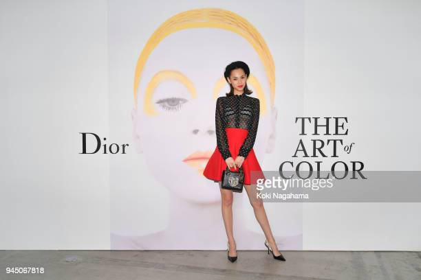 Model/Actress Kiko Mizuhara attends Dior's The Art of Color Press Preview on April 11 2018 in Tokyo Japan