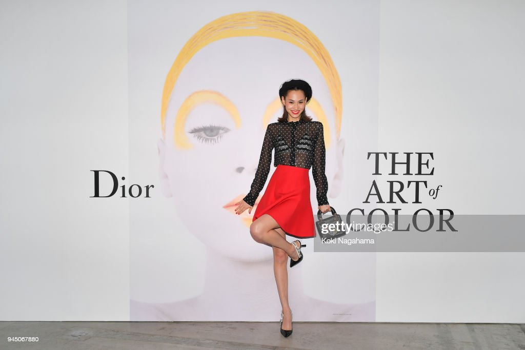 Model/Actress Kiko Mizuhara attends Dior's The Art of Color Press Preview on April 11, 2018 in Tokyo, Japan.