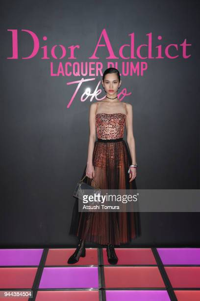 Model/actress Kiko Mizuhara attends the Dior Addict Lacquer Plump Party at 1 OAK on April 10 2018 in Tokyo Japan