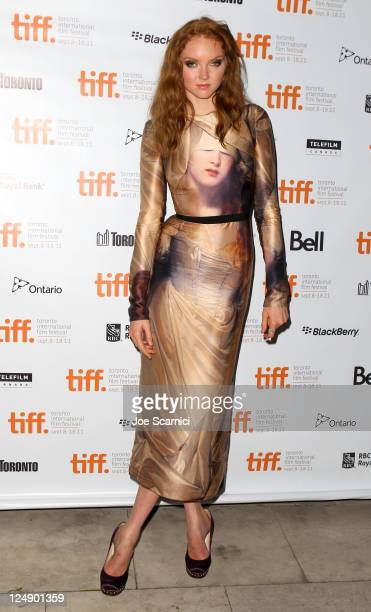 Model/Actress Lily Cole arrives at 'The Moth Diaries' Premiere at Isabel Bader Theatre during the 2011 Toronto International Film Festival on...