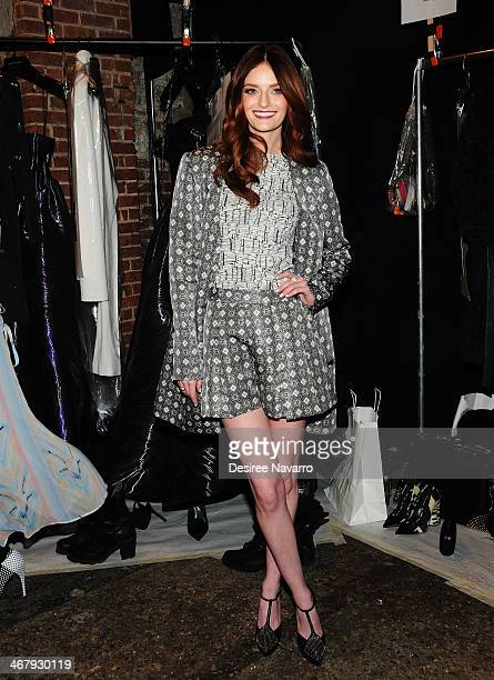 Model/actress Lydia Hearst attends the Christian Siriano show during MercedesBenz Fashion Week Fall 2014 at Eyebeam Atelier on February 8 2014 in New...