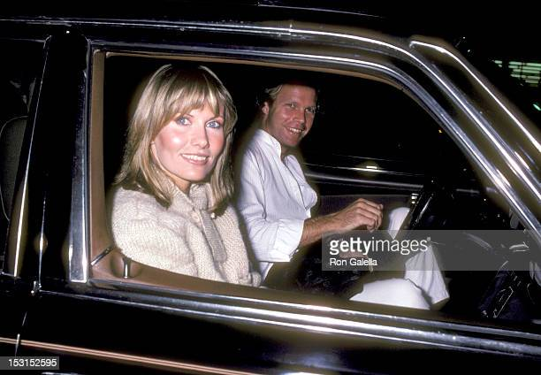 Model/Actress Maud Adams and Actor Reid Smith on January 15 1981 leaving Chasen's Restaurant in Beverly Hills California