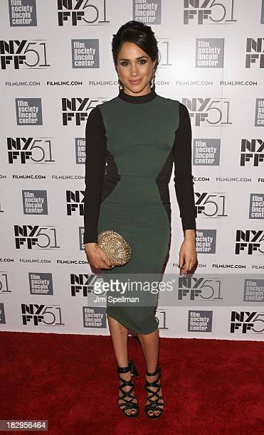 Model/actress Meghan Markle attends the Gala Tribute To Cate Blanchett during the 51st New York Film Festival at Alice Tully Hall at Lincoln Center...