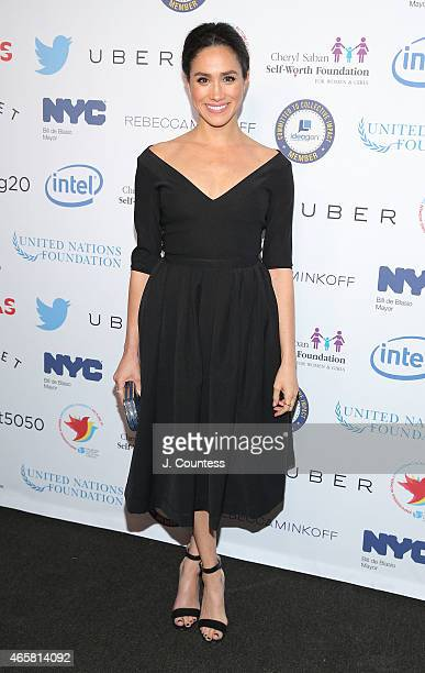 Model/actress Meghan Markle attends the Step It Up For Gender Equality Celebration of the 20th Anniversary Of The Fourth World Conference On Women In...