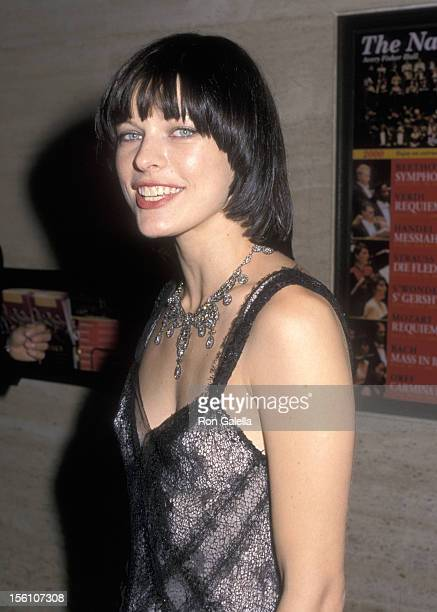 Model/Actress Milla Jovovich attends the 19th Annual CFDA Awards on June 15 2000 at Aver Fisher Hall at Lincoln Center in New York City New York