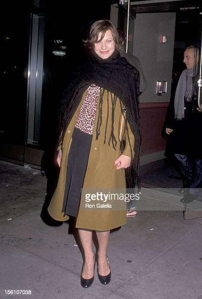 Model/Actress Milla Jovovich attends the 'Anywhere But Here' New York City Premiere on November 8 1999 at Union Square in New York City New York