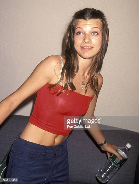 Model/Actress Milla Jovovich attends 'The Beat Goes On' Concert to Benefit LIFEbeat on June 24 1994 at Beacon Theater in New York City New York