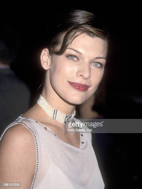 Model/Actress Milla Jovovich attends the Beverly Hills Premiere of 'The Messenger The Story of Joan of Arc' on October 18 1999 at Academy of Motion...
