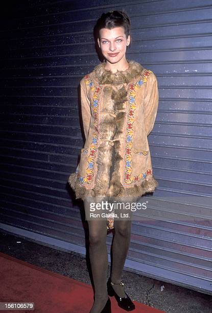 Model/Actress Milla Jovovich attends the 'Chaplin' Los Angeles Premiere on December 4 1992 at Los Angeles Theatre in Los Angeles California