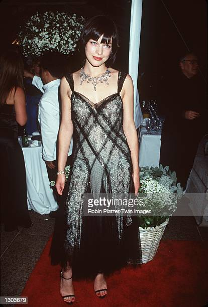 Model/actress Milla Jovovich attends the Council of Fashion Designers of America Awards held at Avery Fisher Hall June 15 2000 in New York City