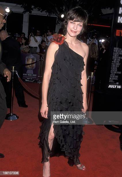 Model/Actress Milla Jovovich attends the 'Eyes Wide Shut' Westwood Premiere on July 13 1999 at Mann Village Theatre in Westwood California